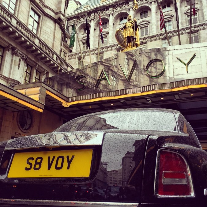 The Savoy Rolls-Royce with personalised number plate