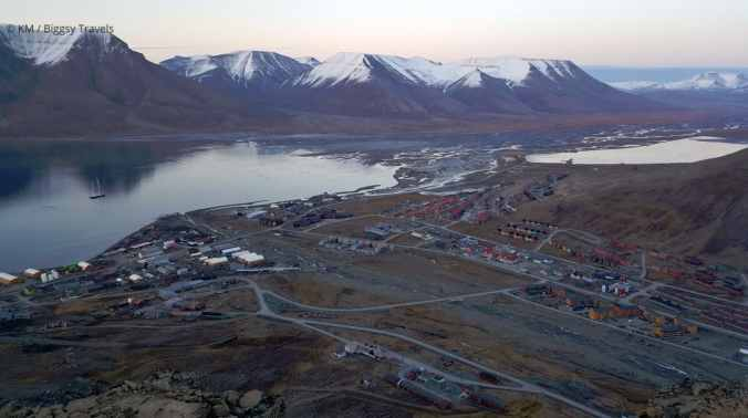 Town of Longyearbyen - view from top