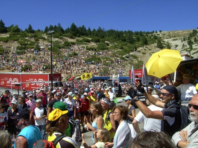 Ventoux just below Chalet Reynard on race day!