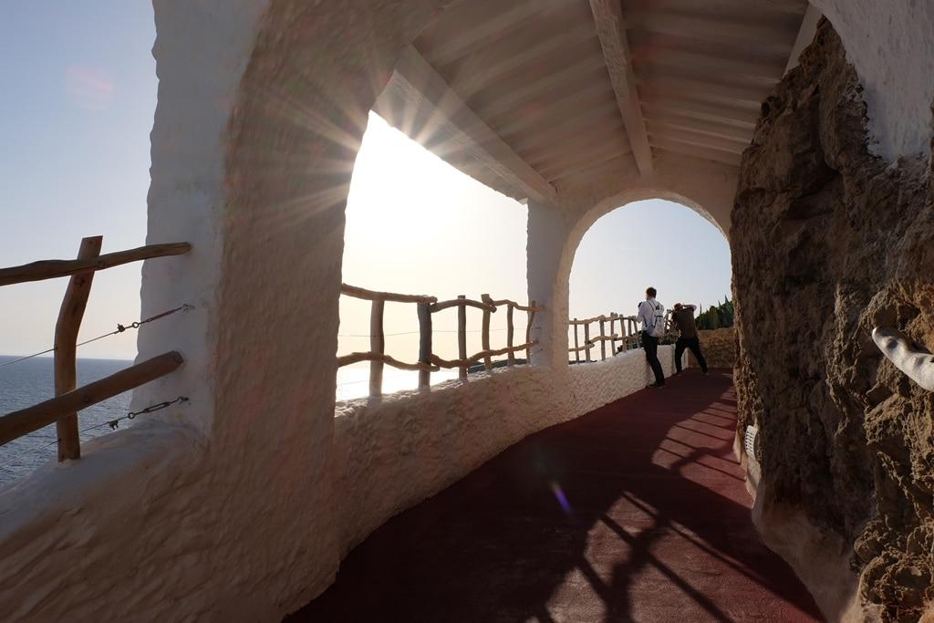 Starburst under an arch at Cova d'en Zoroi