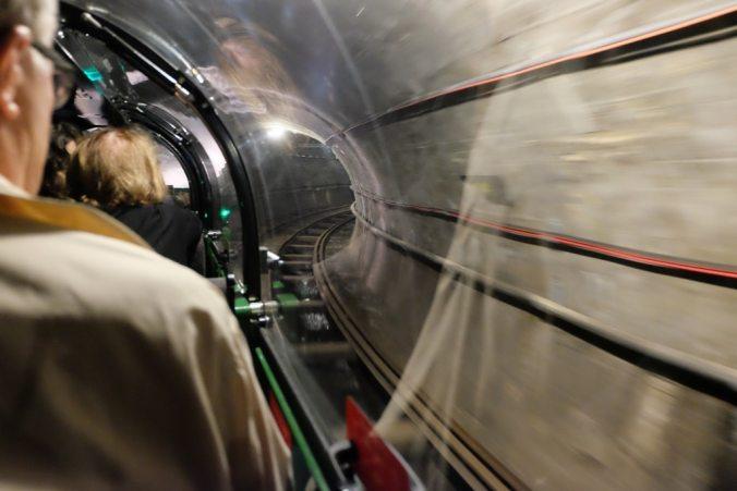 Going through the Mail Rail tunnels
