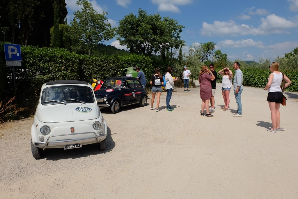 Parked up at Castello di Volpaia