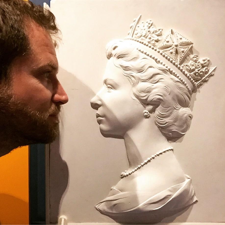 Postal Museum Queen plaster cast mould