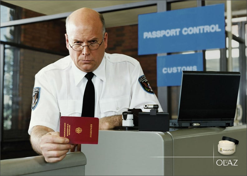 Reaching passport control without your passport