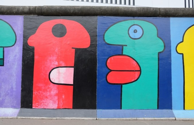 Berlin Wall East Side Gallery - funny heads by Thierry Noir