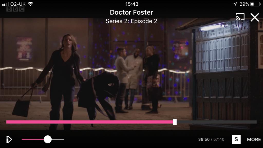Doctor Foster shouting Simon outside the nightclub