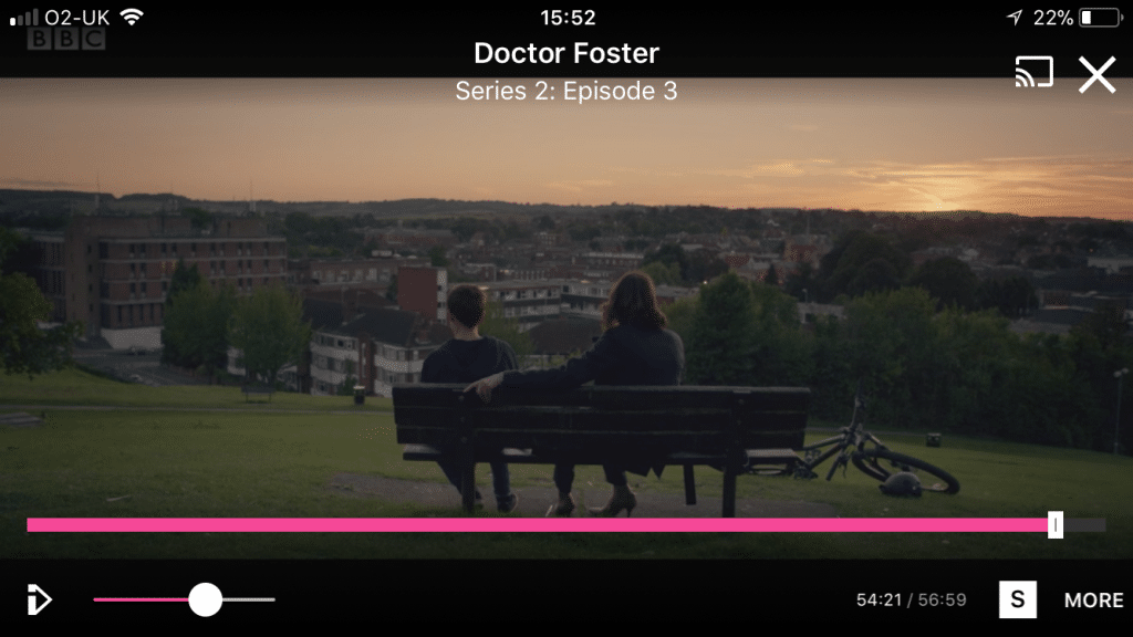 The Doctor Foster bench on top of the hill