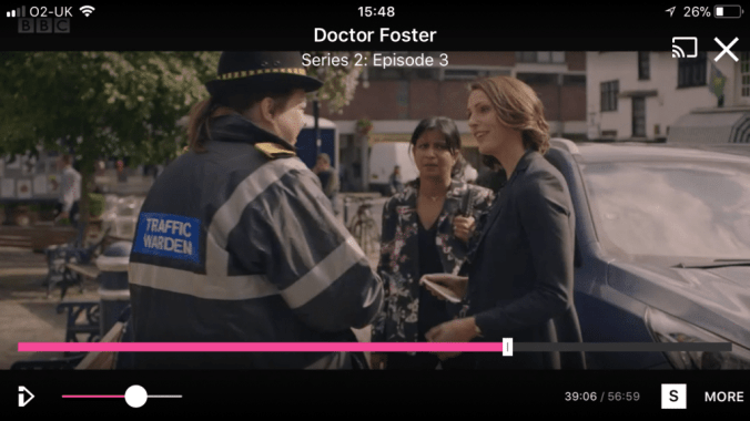 Doctor Foster with the traffic warden