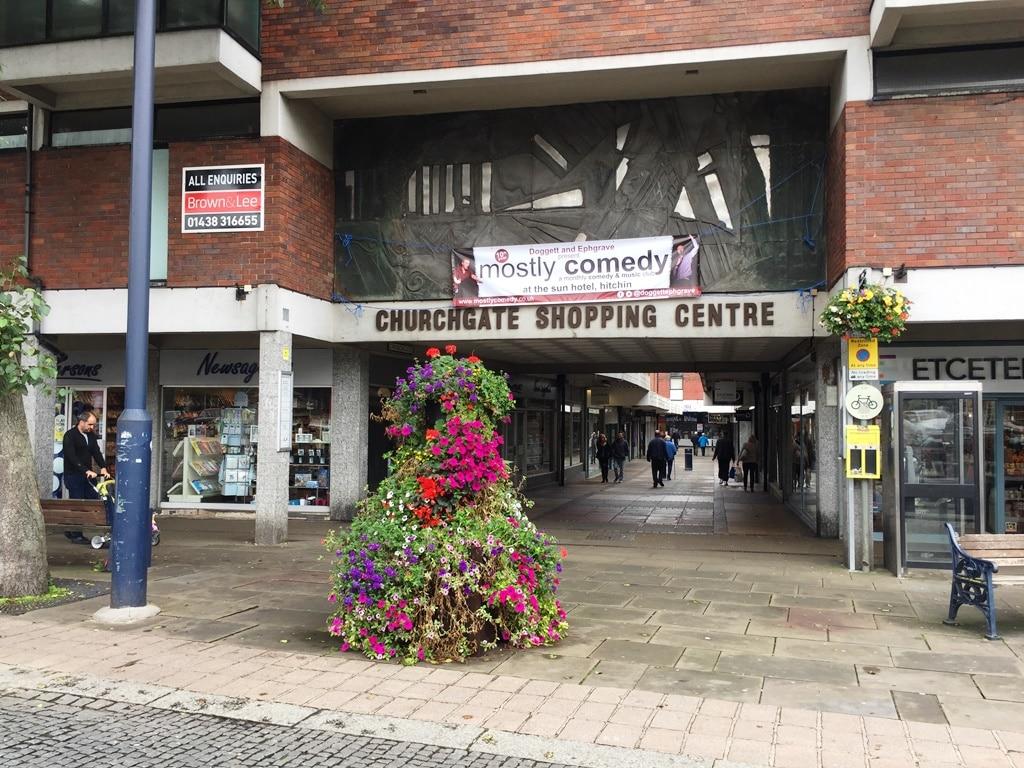 Hitchin Churchgate Shopping Centre Entrance