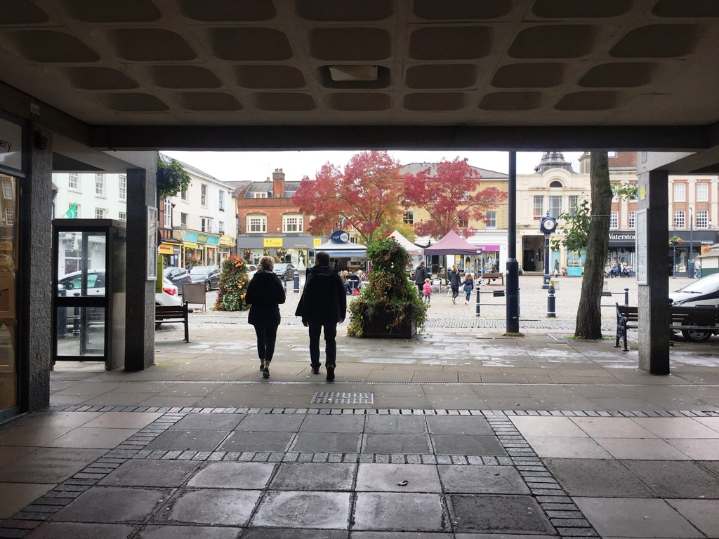Hitchin Churchgate Shopping Centre and the Market Square