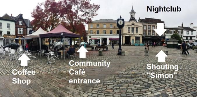 Hitchin Market Square panoramic shot