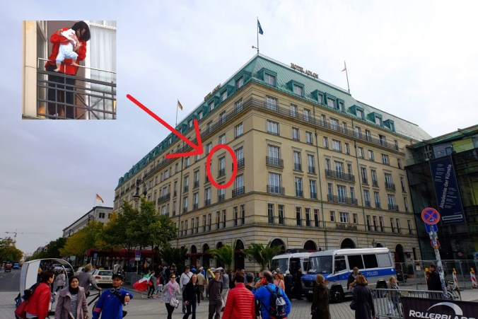 Hotel Adlon and that Michael Jackson balcony
