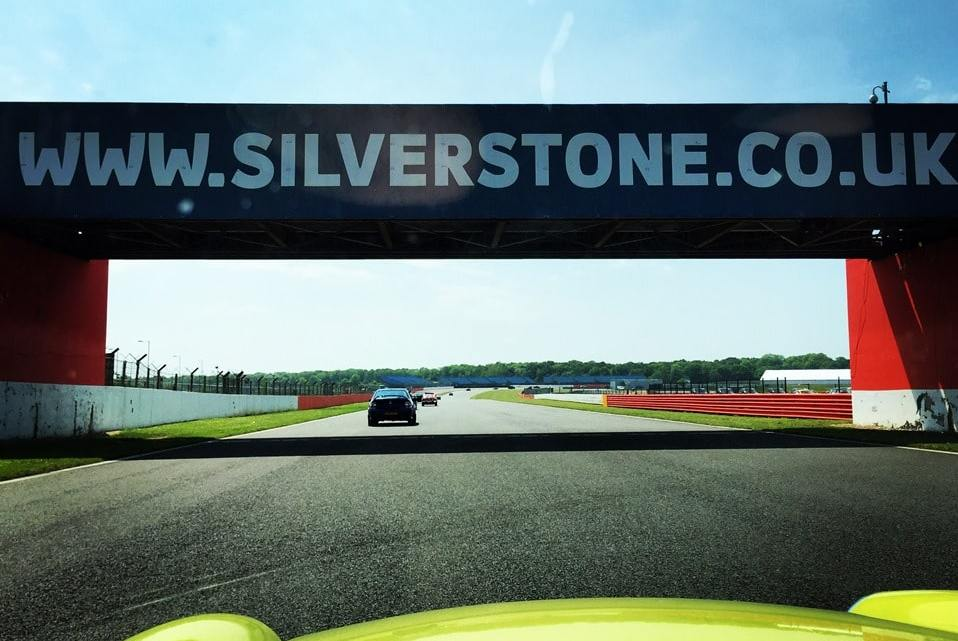 Driving a classic MGB around Silverstone