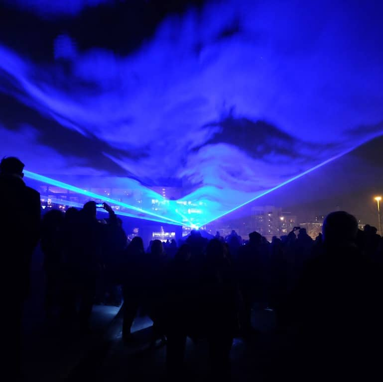 Lumiere London King's Cross - Waterlicht