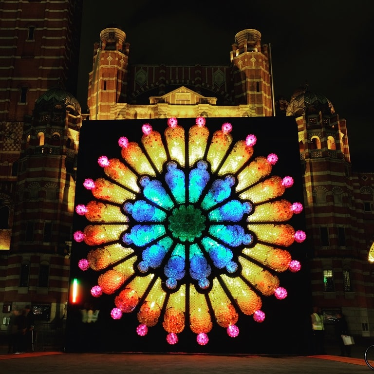 Lumiere London Westminster Cathedral -The Rose