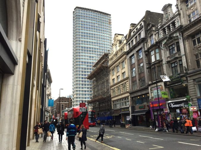 Centre of London? Centre Point along Tottenham Court Road