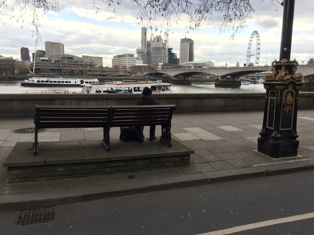 The view from the Embankment bench