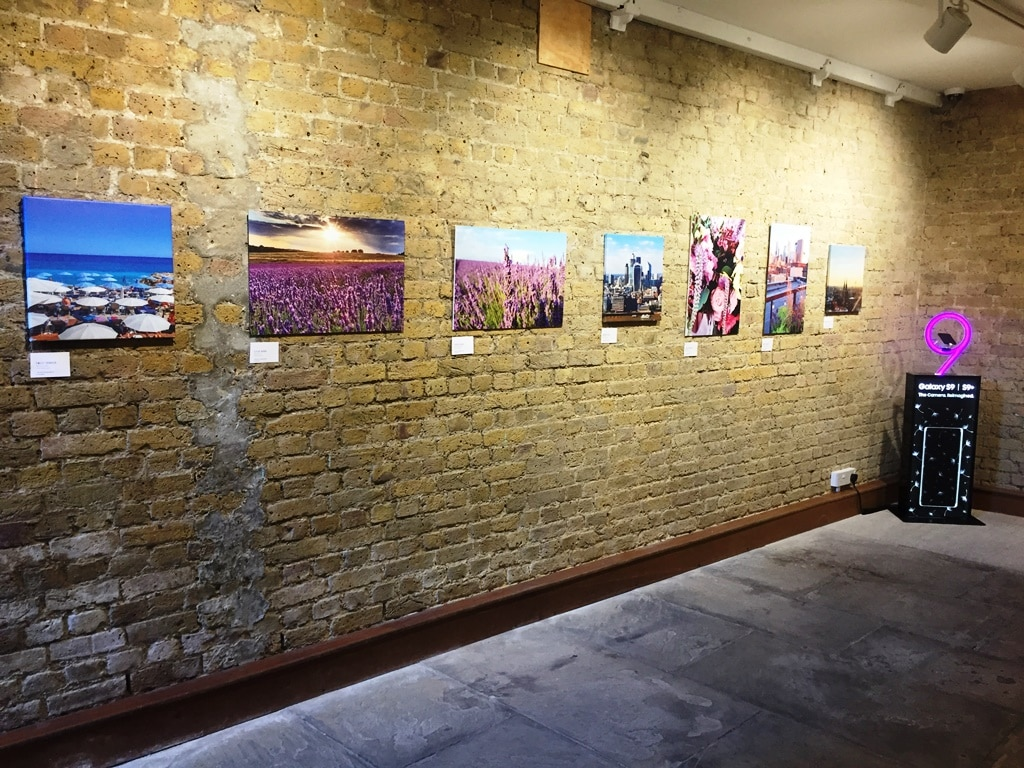 My photograph together with some others downstairs in the Herrick Gallery