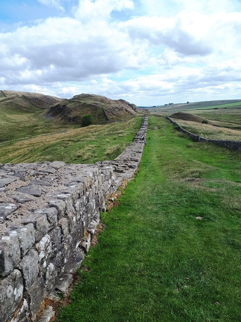 Hiking directly alongside Hadrian's Wall