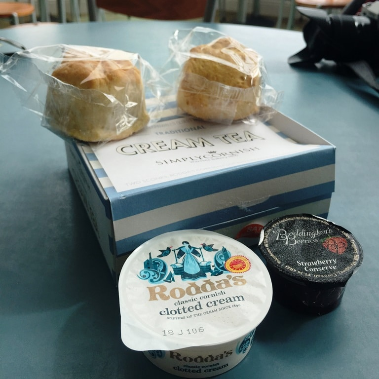 A boxed Cornwall cream-tea from Land's End