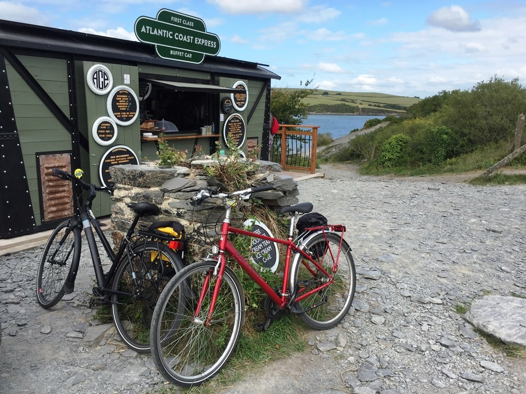 The Alantic Coast Express food stop along The Camel Trail near Padstow