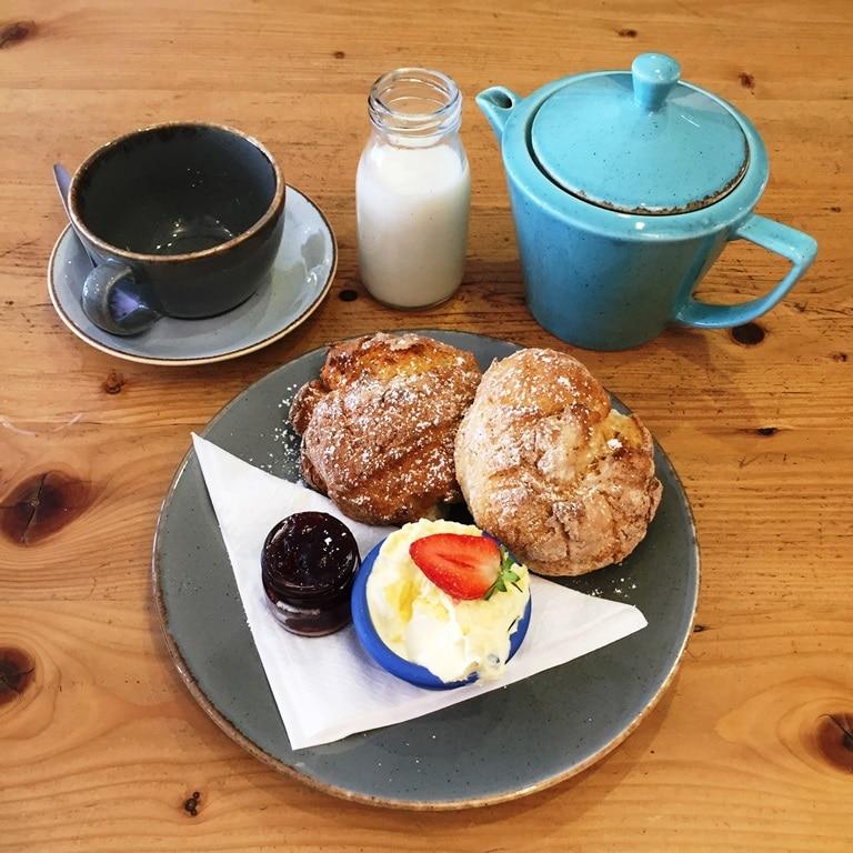 Jam or cream first? The King Arthur Café Cornish cream tea