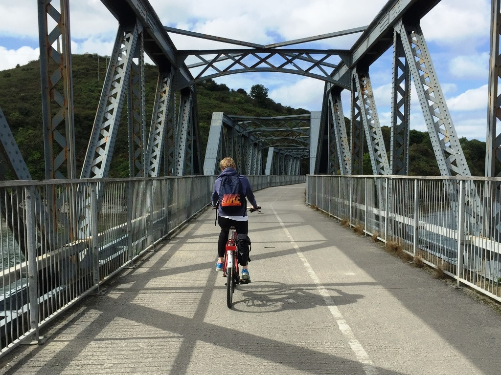 Crossing the old rail bridge-to-Padstow