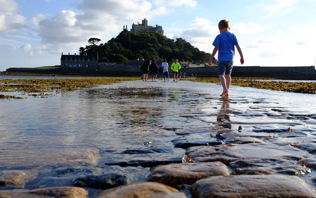 Crossing the causeway to St Michael's Mount
