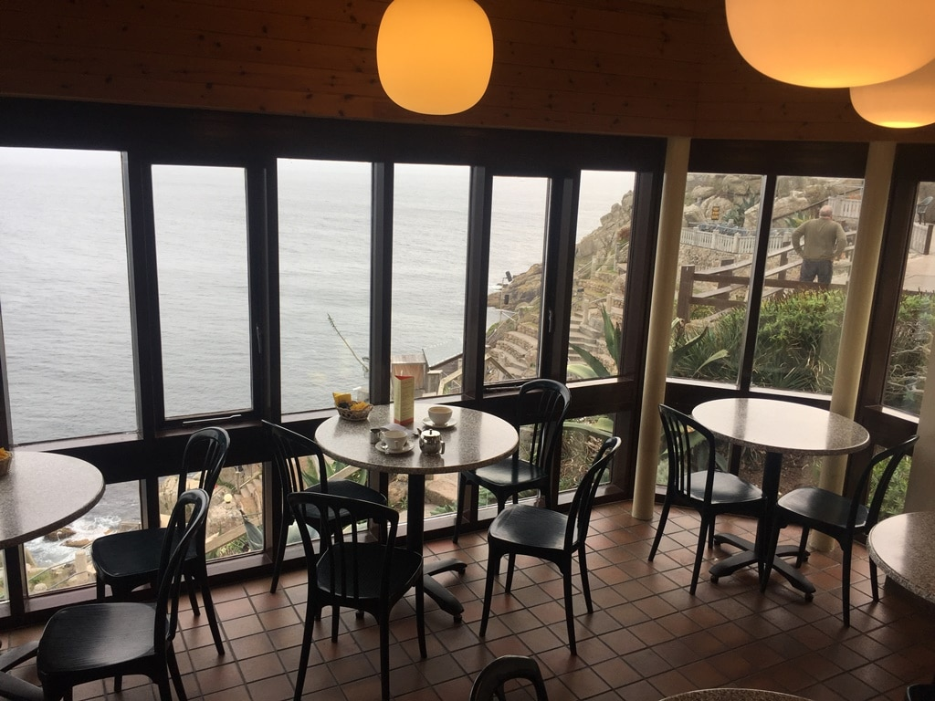 The Minack Theatre café. Open for all to visit outside of performance times