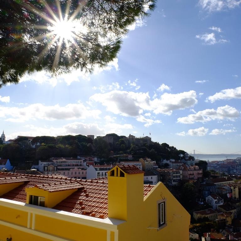 The view from Miradouro da Nossa Senhora do Monte - a few stops in