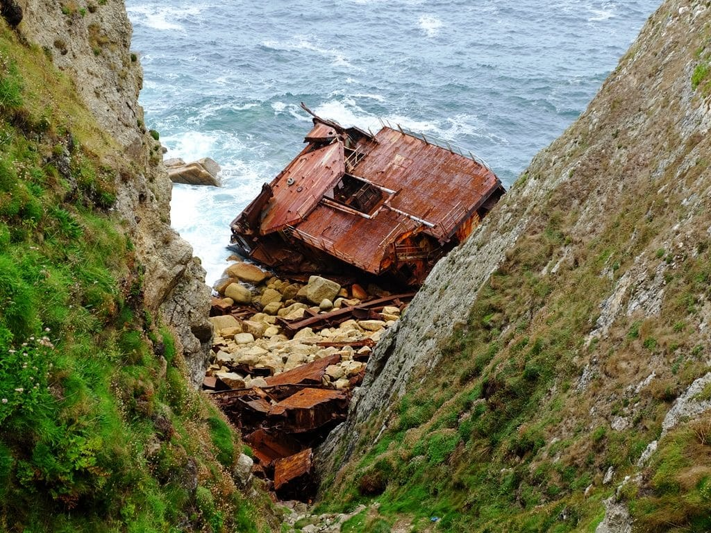 The shipwrecked RMS Mulheim