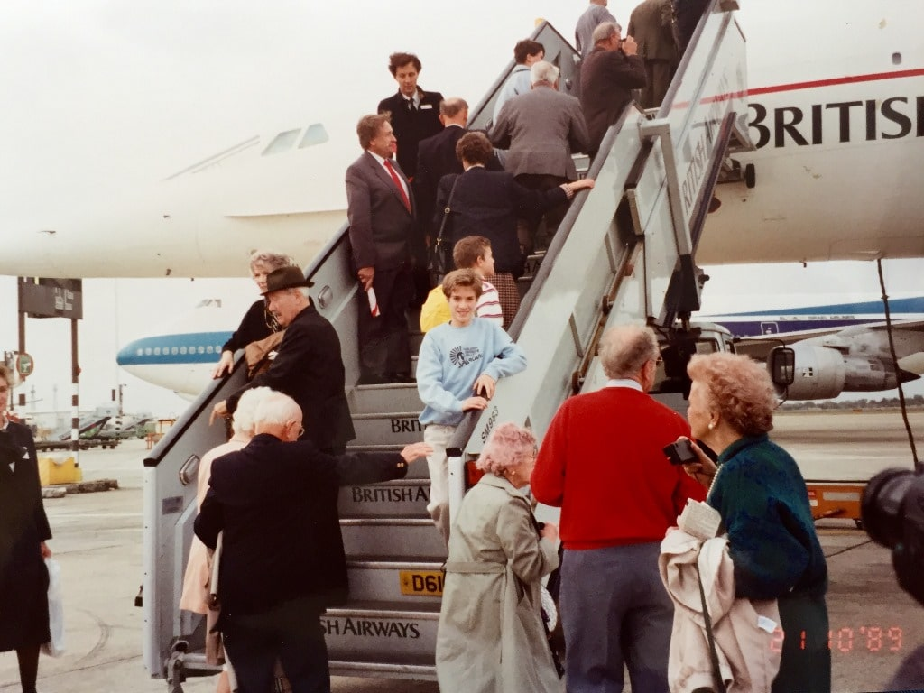 Boarding the steps of Concorde