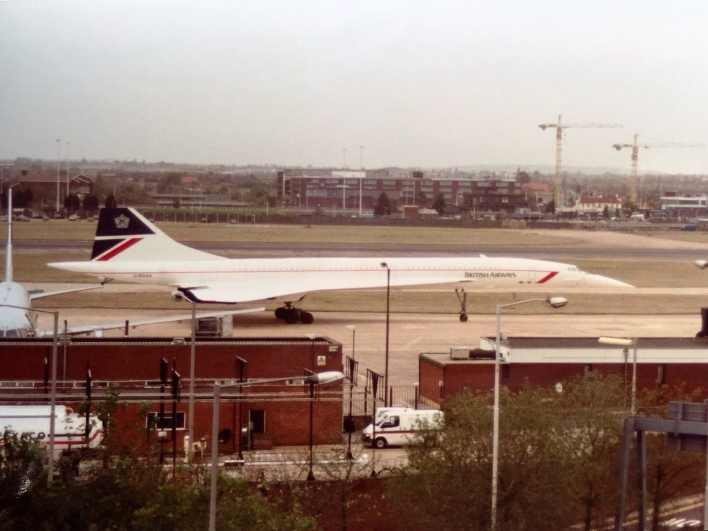 Concorde taxiing along the runway