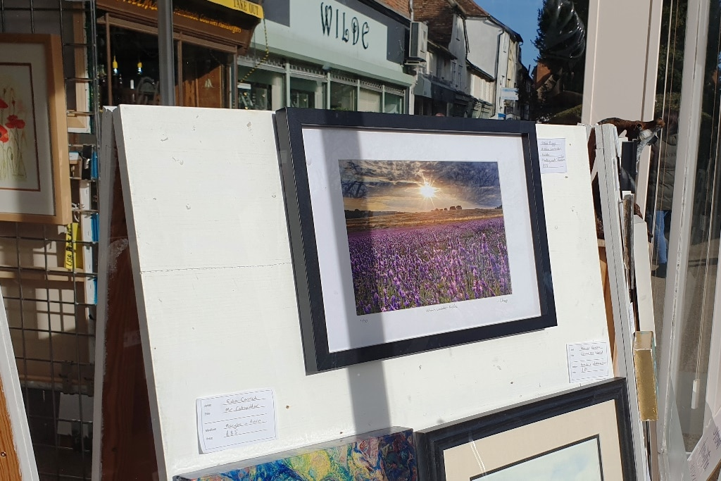 My A4 framed print for sale at the Hitchin Initiative shop
