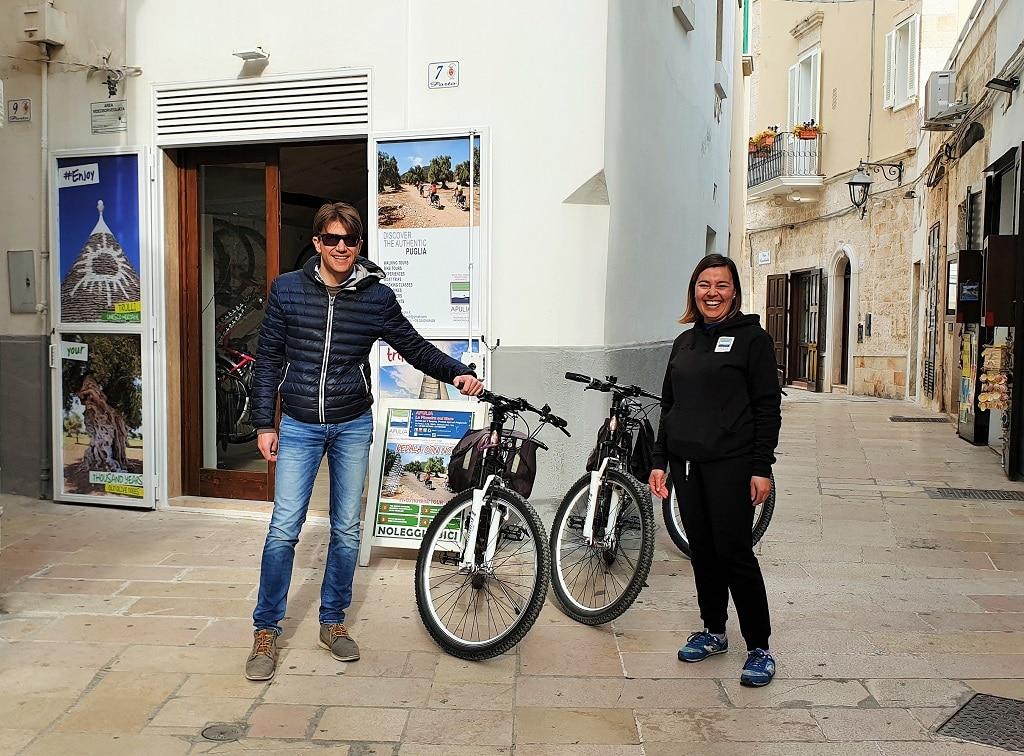 Hiring bikes from Apulia - La Finestra sul Mare