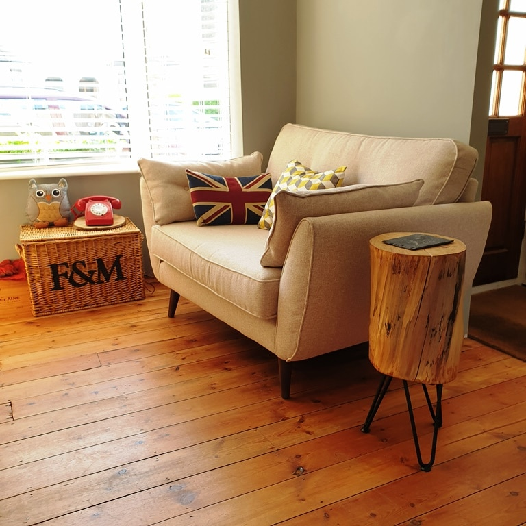 The conker side table and sofa in my front room