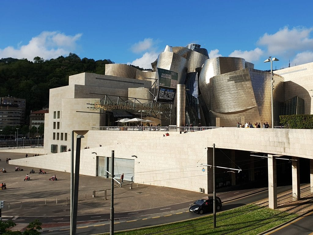 The entrance to the Guggenheim Museum Bilbao