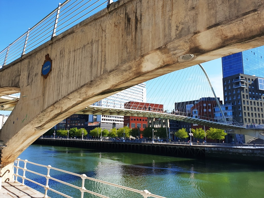 The Puente Zubizuri bridge Bilbao