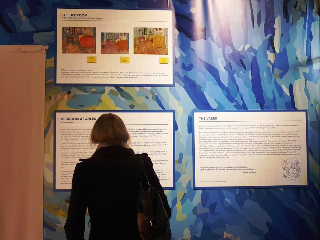 Van Gogh exhibition information boards