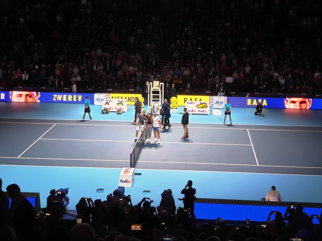 Zverev and Nadal coin toss photo