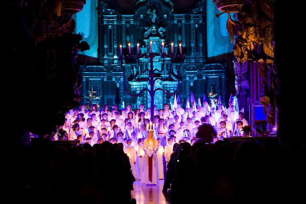 Attending a Lucia concert at Stockholm Cathedral