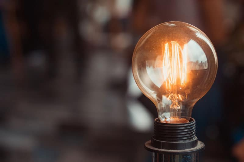 Old style incandescent lightbulb