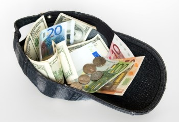 donation in a hat
