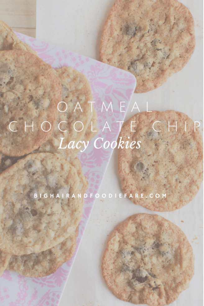 Oatmeal Chocolate Chip Lacy Cookies