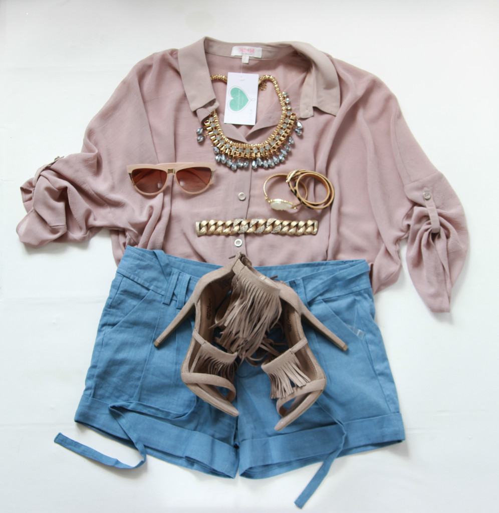 Linen shorts, taupe blouse, ootd, outfitost, style blogger, style blog, indy blogger, indystyle, indy blogger, indy bloggers, midwest blogger