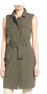 Olivia Polermo Long Military Vest, ON SALE $94.80 (Was $158)