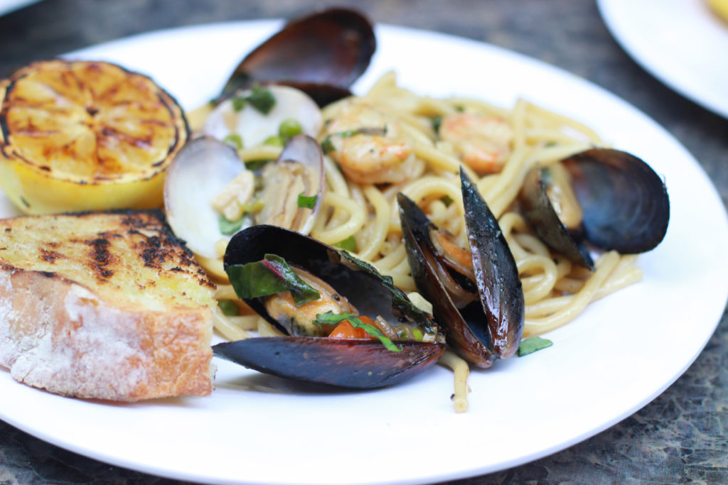 Cast Iron Mussels and Bucatini