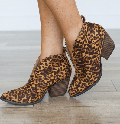 Matisse Leopard Tan Booties