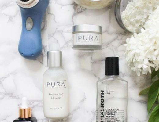 Skin Care routine for combination skin.