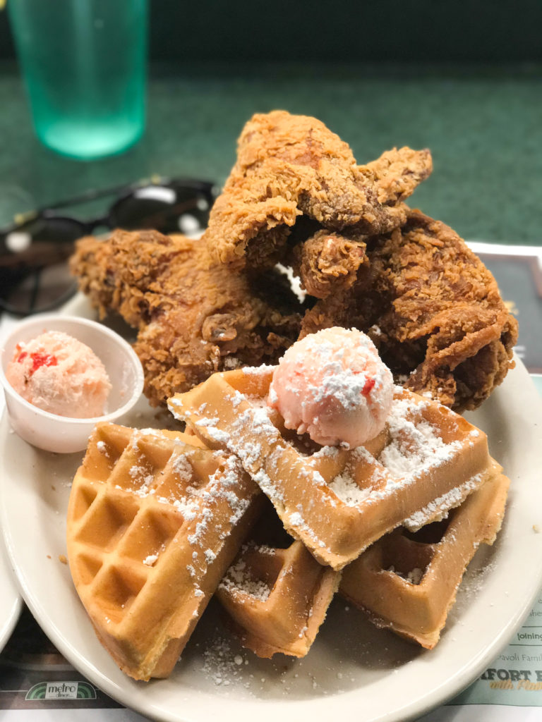 Metro Diner: Chicken and Waffles